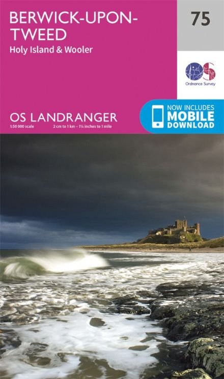 OS Landranger 75 Berwick upon Tweed and Holy Island